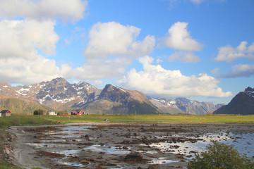 Lofoten's landscape in Gimsøy