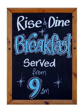 Cafe breakfast advert