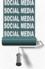 Social media roller brush