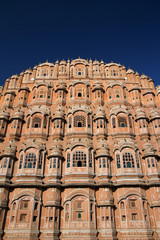 Indian famous monument Hawa Mahal in Jaipur