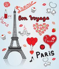 Paris, France, romance