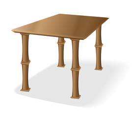 Retro old wooden table