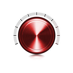 Bouton en métal rouge