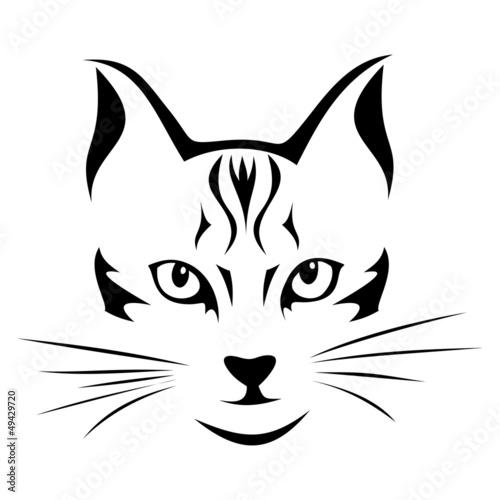 Quot black silhouette of cat vector illustration stok