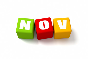 November Colored Cubes