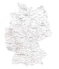 Wall Mural - Bundestagswahl Deutschland  2013 Wahlkreiskarte