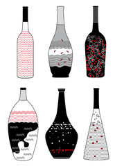 Collection of Different Alcoholic Drinks