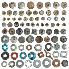 Screws head nut bolt and washer collection set
