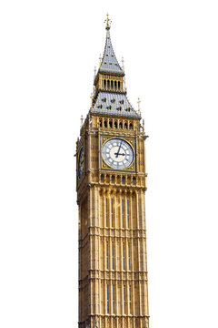 Big Ben Isolated on White background
