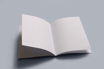 blank open book with clipping path