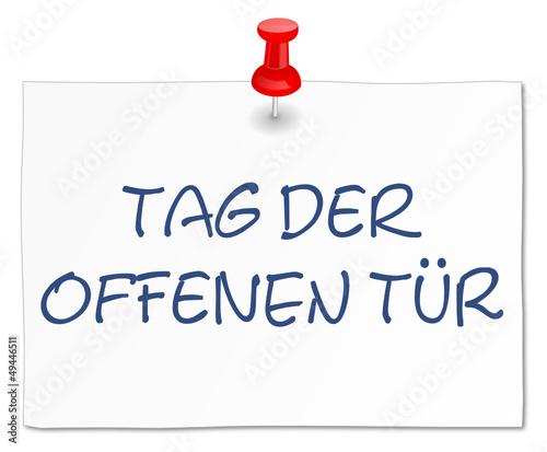 Tag der offenen tür schild  Werbung Schild HInweis - Tag der offenen Tür