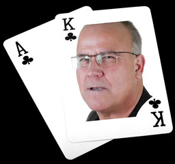 ace king, clubs