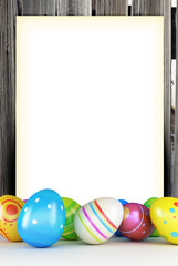 frame of Easter eggs