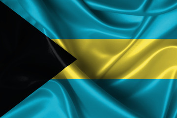Wavy Flag of Bahamas