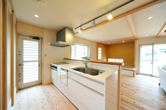 ウッディなキッチン横位置−2