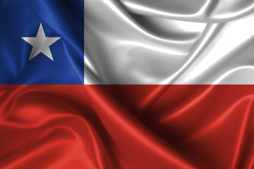 Wavy Flag of Chile