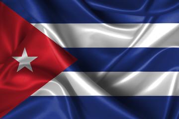 Wavy Flag of Cuba