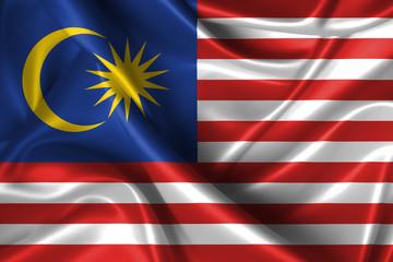 Wavy Flag of Malaysia