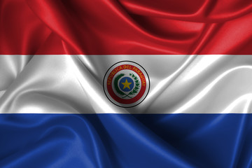 Wavy Flag of Paraguay