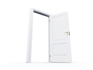 White Open Door