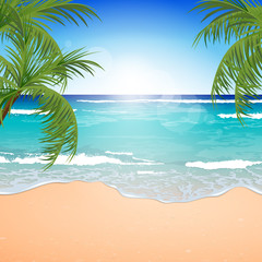 Vector Illustration of an Azure Ocean
