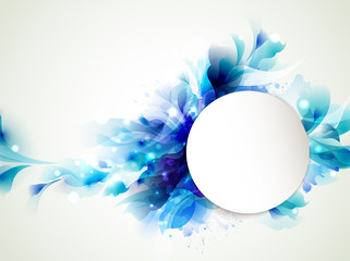 Fototapete - Background with Abstract blue elements
