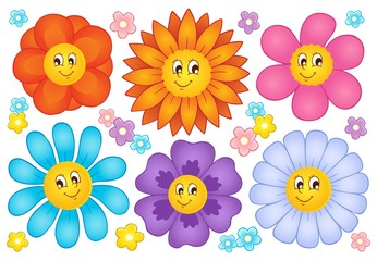 Cartoon flowers collection 2