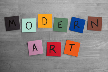 'MODERN ART' sign / poster for Education, The Arts, Editorial.