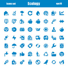 icons ecology blue