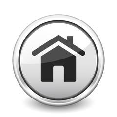 button gray house
