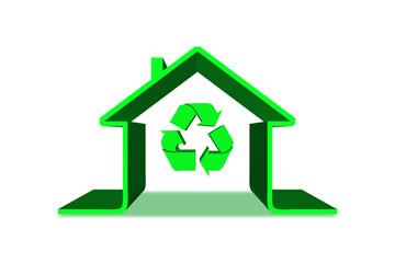 Écologie Maison Verte Recyclage