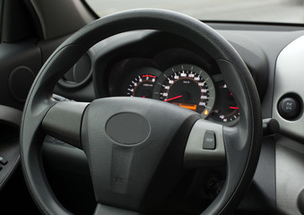 Steering wheel, Button located in the car,