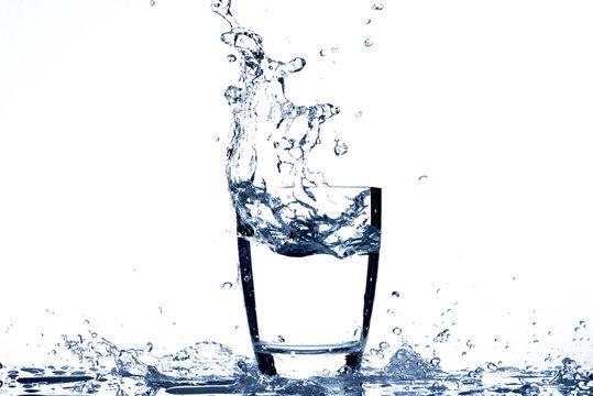 Water splash from glass