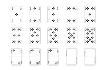 Spielkarten - Kreuz