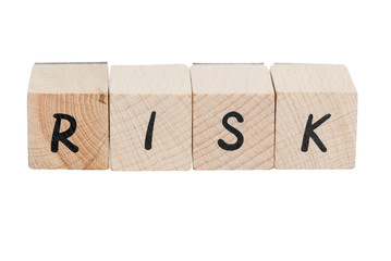 Risk Spelt  With Wooden Blocks.