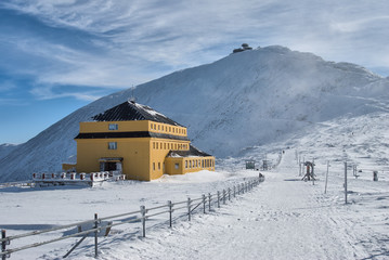 Fototapeta Karkonosze Mountains in Winter, Mount Sniezka obraz
