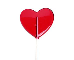 Lollipop with heart-shaped