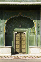Wall Mural - Jaipur palace, gate, India
