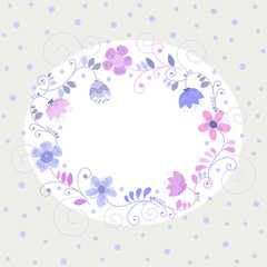 holiday greeting card with flowers