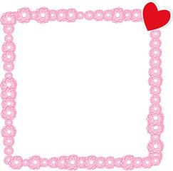 Rahmen aus Blüten mit Herz