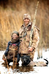 Acrylic Prints Hunting Father and Son Hunt