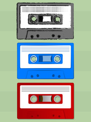 Various Old Cassette Tape Icons
