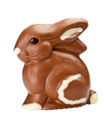 Schokoladenhase freigestellt (mit Clipping Path)