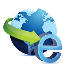 internet globe illustration