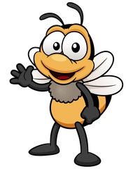 illustration of Cartoon bee