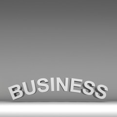 3d text for business background