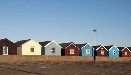 Beach Huts at Southwold, Suffolk, UK.