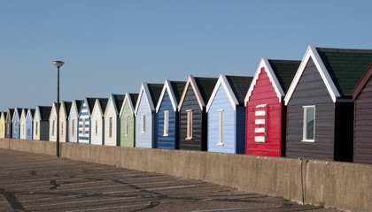 Colorful Beach Huts at Southwold, Suffolk, England