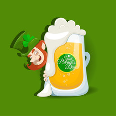 Saint Patrick's Day design with light beer