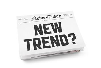Fotobehang Kranten New trend?